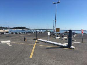 Borne d'accès à la cale de mise à l'eau du Croisic