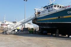 Escalier d'accès aux navires