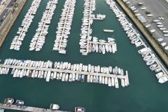 vue aérienne du port de plaisance