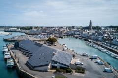 Vue aérienne du port de pêche du Croisic