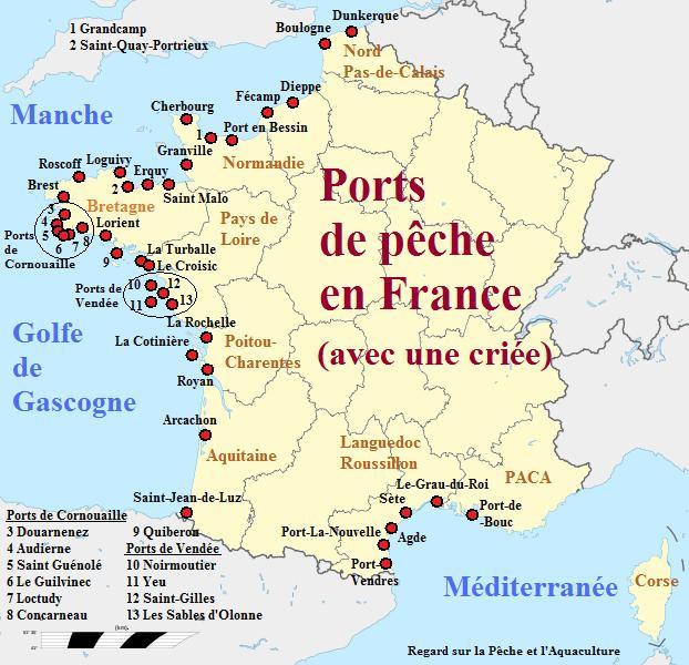 Ports de pêche et criée en France